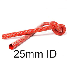 25mm Inner diameter RED silicone duct air hose high temperature exhaust duct hot air ducts hot blast pipe(China)