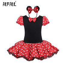 Hot Sale Kids infant Baby Girls Birthday Cosplay Costume Pary Fancy Tulle Tutu Dress up with Ear Headband 1-8Y(China)