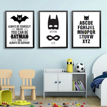 Super Hero Batman Mask Print Canvas Art Wall Canvas,  Nursery Decor Poster Oil Painting Wall Pictures for Living Room, No Frame