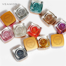 VEAMOR 12PCS UV Builder Gel Nail Polish Glitter Nail Gel Polish Long Time Lasting 12 Colors UV Nail Gel Set(China)