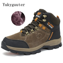Men Hiking Shoes Winter Snow Boots Outdoor Sneakers Athletic Leather Boots Men Trekking Waterproof Camping Climbing Shoes Sports(China)