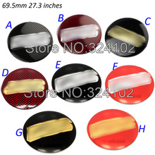 400pcs 3D 69.5mm Red Black Silver Carbon Fiber Wheel Center Sticker Badges Emblem Custom Only Can Choose 2 Color MIX