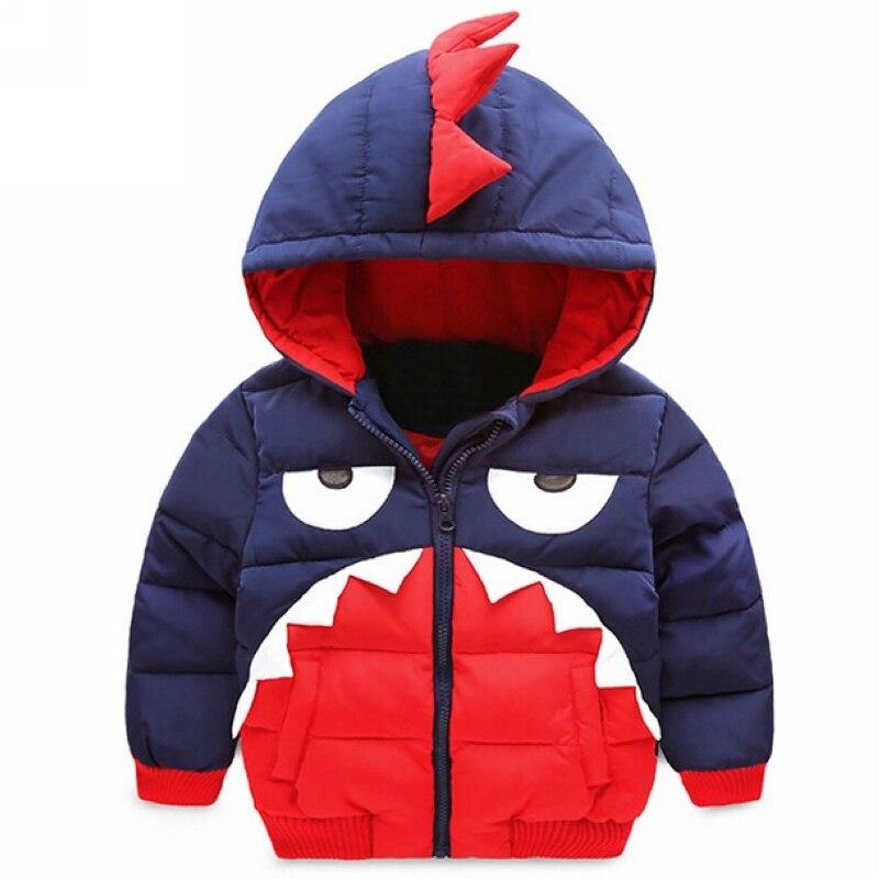 Kids Winter Warm Coat  Children Dinosaur Cartoon Hooded  Jacket Boy Outerwear Girl Fashion Down Childrens ClothingОдежда и ак�е��уары<br><br><br>Aliexpress