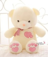Free shipping LOVE bear plush toy teddy bear soft stuffed toy Christmas gift
