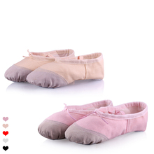 Wholesale Children Girls Kids Soft Sole Ballet Dance Shoes(China)