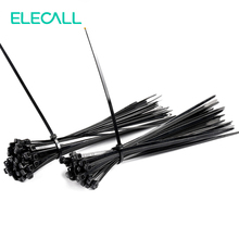 4*200mm Self-Locking Nylon Cable Ties 400Pcs/Pack Cable Zip Tie Loop Ties For Wires Tidy Black