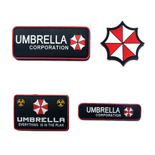 Resident Evil Cosplay Patch Resident Evil Umbrella Logo Badge High Quality Rubber Shoulder Armband Badge Tactical Morale Patch
