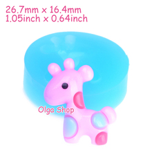 DYL297 26.7mm Kawaii Giraffe Flexible Silicone Mold - Animal Mold Cake Decoration Sugarcraft, Miniature Food Mold, Resin Mould