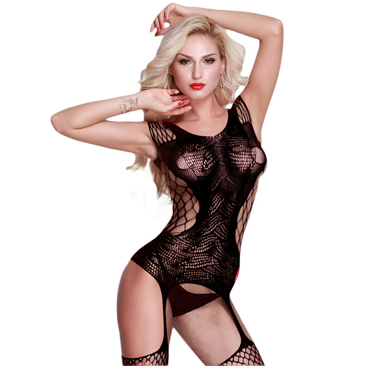Women's Sexy Lingerie Plus Size Hot Bodystockings Stockings Sexy Bodysuit Fishnet Erotic Underwear Mesh Body Lenceria QQ232