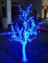 1.5M / 5FT LED Christmas New year Light Crystal Cherry Blossom Tree with blue Leafs Outdoors 558 leds(China)