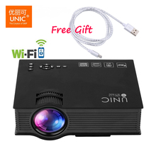 Unic UC46+ Upgrade UC46 Wireless WIFI Portable Projector 1200 Lumen Full HD LED Home Cinema Miracast DLNA Airplay Video Projetor