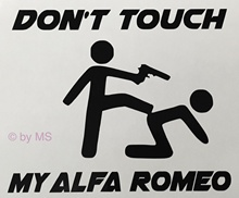 For Don ' t Touch my Alfa Romeo Car Decal Sticker Motorsport Sport Mind Limited Car Styling(China)