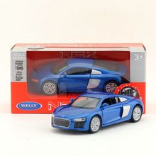 Welly DieCast Metal Model/1:36 Scale/Audi R8 V10 Toy Car/Pull Back Educational Collection/for children's gift or for collection