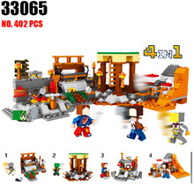 Buy AIBOULLY 33065 Minecrafter 4 1 LELE World Series Mine World mine Model Building Blocks Kit Technic Toys Children for $15.99 in AliExpress store