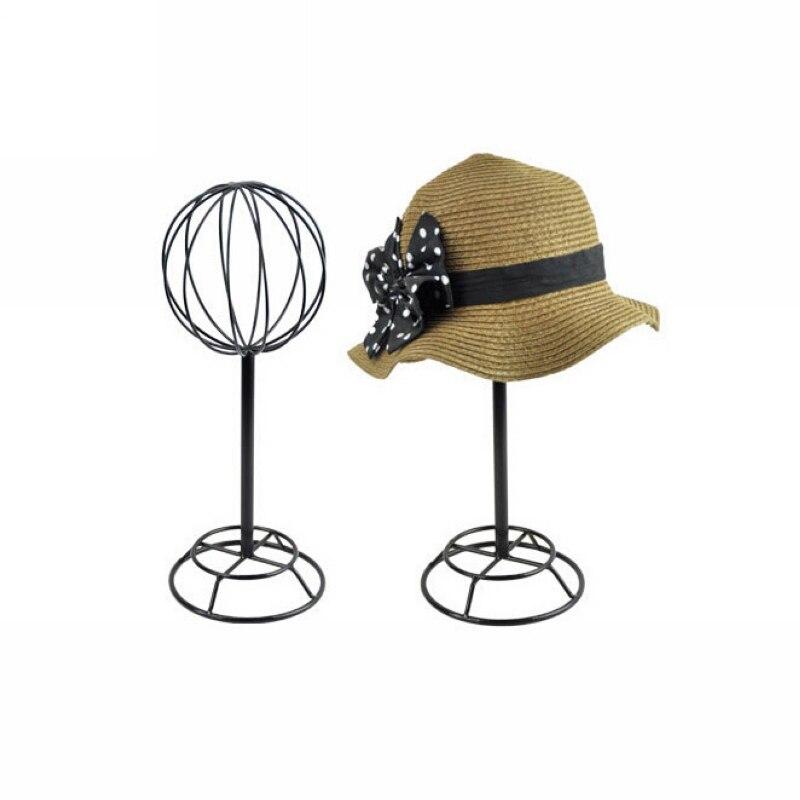 Бесплатная доставка HH013-черный показ кепки держателя шляпы стеллажа для выставки товаров черной шляпы витрины Метэл Хэт