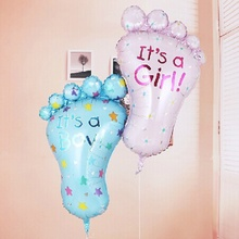 Best Selling Brand New Cute Girl Boy Baby Cartoon Foot Foil Balloons Beautiful Balloon Baby Birthday Party Decorating Supplies