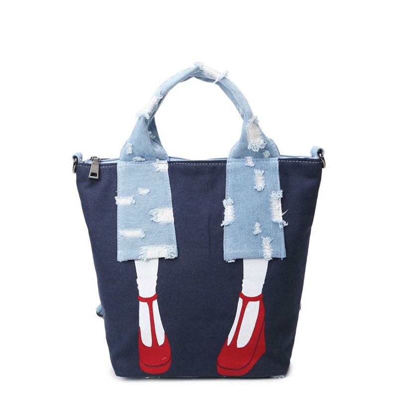 Multifunctional Bag Demin Printing Backpack Women Backpacks for Teenage Girls Tote Bag School Bags Mochila Feminina Shoulder<br><br>Aliexpress