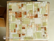 Natural color stone marble mosaic tile jade mosaic tile for home decoration wall tile(China)