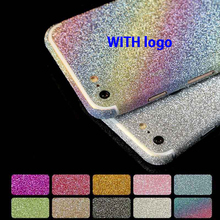 100pcs Glitter Sticker Bling Diamond Full Body Screen Protector Front Back Sparkly Film Decal For iPhone 7 Plus 6 6S Plus 5 5S(China)