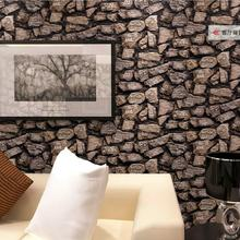 3D Antique Brick Stone Design Wallpaper Roll  / Modern Fashion Bedroom , Livingroom Background Decor Wall /papel de parede