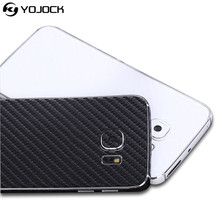 Yojock Phone Sticker Case for Samsung Galaxy S7 Edge 3D Carbon Fiber Full Body Back Film Wrap Skin Phone Case Shell Coque(China)