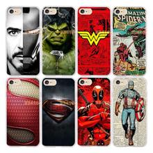 super iron man wonder woman batman hulk 360 full rubber soft silicone transparent case for iphone 7 8 hight quality phone case(China)