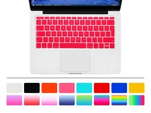 "HRH EU/UK English Silicone Keyboard Cover Skin for Mac New Pro 13"" A1708 (2016 Version No Touch Bar) and for Macbook 12"" A1534"