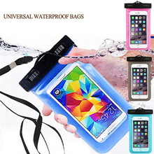 waterproof phone bag case cover pouch For Sony Xperia Z1 Z2 Z3/Z5 Z3 Compact Z4 M4aq M2 M5 C4 C5 E4 T2 T3 phone pocket(China)