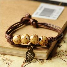 Free shipping wholesale Vintage bohemia leaves jewelry sexy manufacturers multi layers cat pendant bracelet bangle anklet(China)