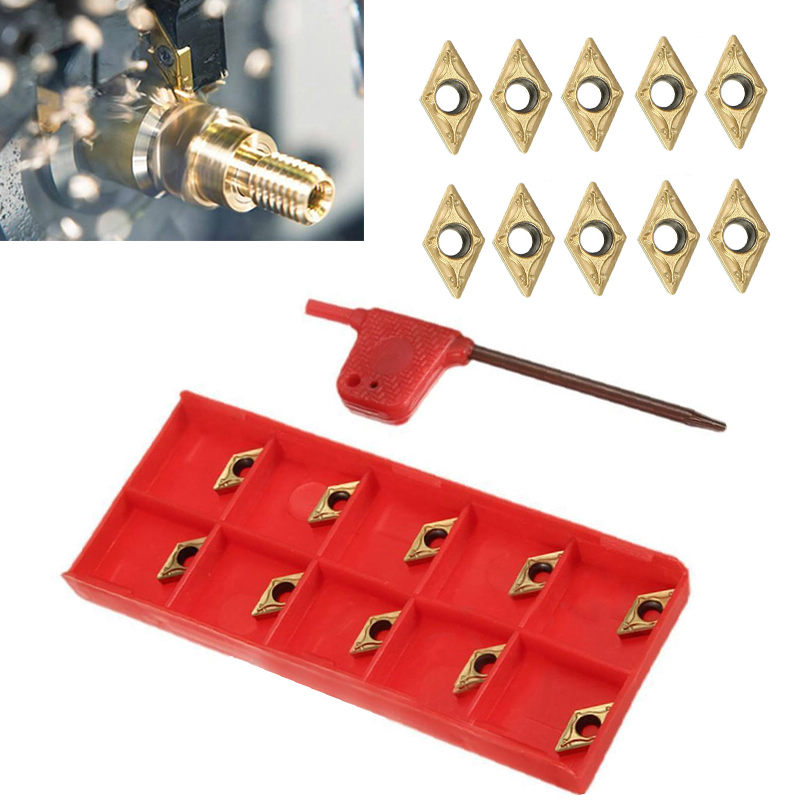 10pcs/lot Carbide Inserts DCMT070204 US735 DCMT21.51 Inserts with Wrench For Lathe Turning Tool<br><br>Aliexpress