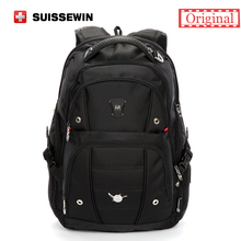 Swiss Men Backpack Gear Quality 15,6 Laptop Backpack sac a dos Large Capacity Waterproof Bagpack Black mochila masculina(China)