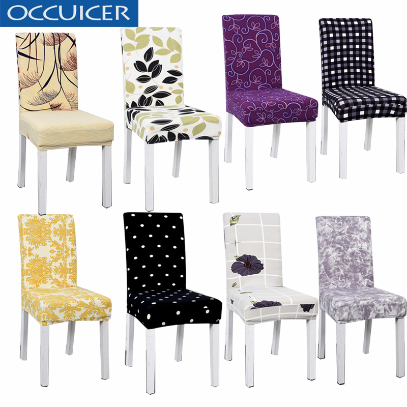 Stretch Plush Dining Room Wedding Party Hotel Home Chair Seat Cover Protector