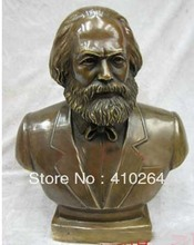 [Nice Discount ] Chinese Pure Bronze Karl Marx Figure sculpture Statues