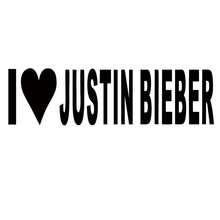 New Product Car Sticker I Love Justin Bieber Stickers Heart Singer Song Vinyl Decal Car Accessories Jdm(China)
