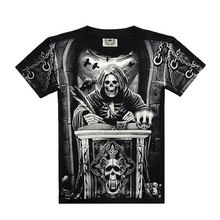 2016 Limited 3d T-shirt Men Dragon Skull Wolf Printed Mens High Quality Cotton Tshirt Hip Hop O-neck Short Sleeve Size S-xxxl