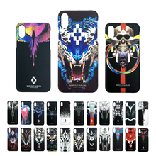 New Marcelo Burlon Phone Case for iphone X 5.8 inch Tiger Lion Skull Fundas Hard PC Thin Case For iPhone X Marcelo Burlon Cover(China)