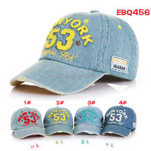 Brand New High Quality 2017 Kids Baseball Caps Baby Has & Caps Fashion Letter Jean Denim Cap Baby Boys Girls Sun Caps for 2-7Y(China)
