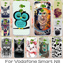 AKABEILA Soft TPU Phone Cases For Vodafone Smart N8 VFD610 5.0 inch Covers Painted Cases Back Silicone Cute Animals Bags(China)