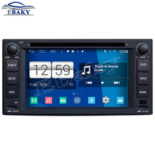 Brand new Car Styling 800*480 Quad Core 16G 6.2'' Pure Android 4.4.4 Car DVD Player for Toyota Corolla GPS Navigation Free map