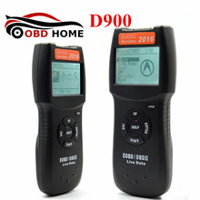 New Arrival Auto Code Scanner D900 EOBD OBD2 Car's Engine D900 Code Reader Diagnostic Tool For Multi Brand Cars 2016 Verison