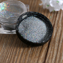 1g/Box Nails Dip Powder Holographic Laser Powder Nail Glitter Rainbow Pigment Manicure Chrome Color Silver