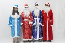 Adult Christmas Santa Claus Costumes Flocking+Rabbit Fur Fancy Cosplay Santa Claus Clothes Good Quality Costume Christmas Suit