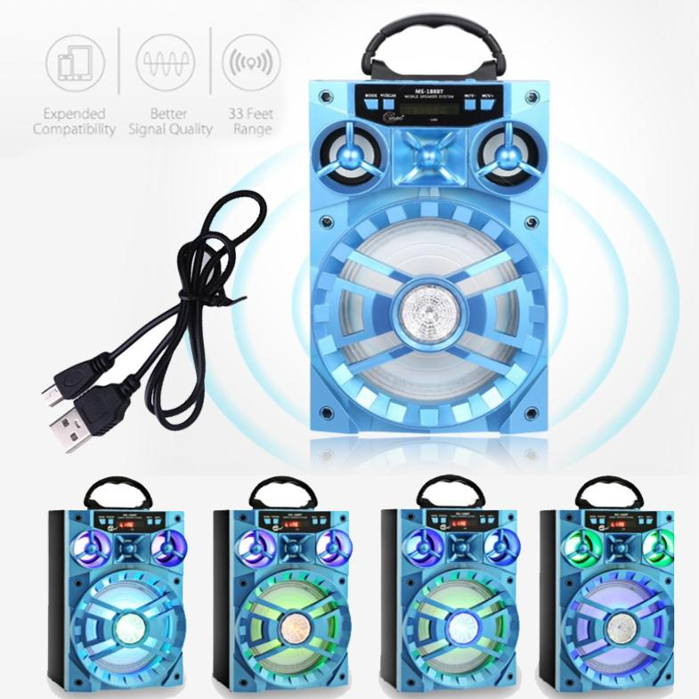 Portable 15W Bluetooth Speaker MS-188BT Wireless Soundbox MP3 Player Music Radio