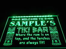 DZ014- Name Personalized Custom Tiki Bar Beer   LED Neon Light Sign   hang sign home decor  crafts