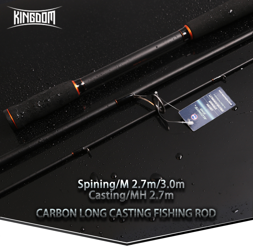Kingdom Spinning Rods 2.7m 3m Carbon Fishing rod M MH Casting rods Fast Lure Feeder Rod Fishing Pole 3 Sections (2)