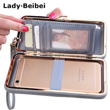 Lady Beibei long Women Wallet Female Card Holders Cellphone Cases Pocket Gifts Money Bag Ladies Day Clutch Purse Wallets box