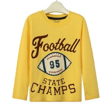 American Football Rugby Children T-Shirts Champs Boys Long sleeve tees shirts fashion boy clothes 100% Cotton Kids Outerwear