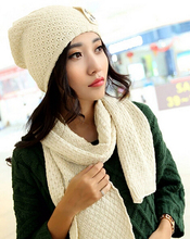 winter not cold warm twinset cap and scarf double wool thermal Breathable Cozy 5color 1set brand new arrive(China)