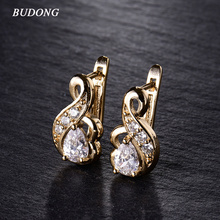 New Small Hoop Earrings for Women Silver/Gold-Color 3 colors Hoop Earrings White Crystal CZ Earing Fashion Snake Jewelry E194