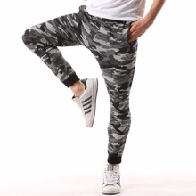 Lightweight Elastic Waist Fashion camo sweatpants men Casual Cotton Army tactical military design jogger camouflage Pants 4XL(China)
